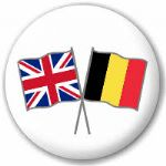 Great Britain and Belgium Friendship Flag 25mm Button Badge